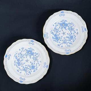 マイセン(MEISSEN)のマイセン インドの華リッチブルー プレート18cm ペア(食器)