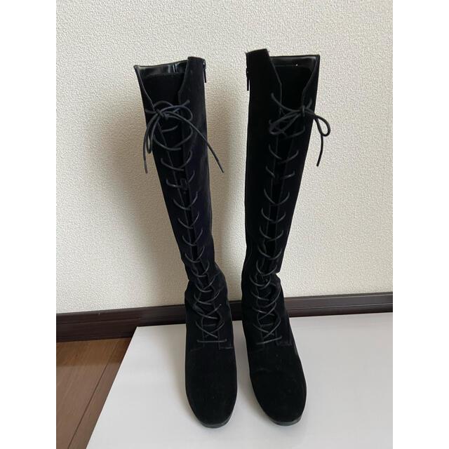 snidel(スナイデル)のsnidel レースアップブーツ ブラック レディースの靴/シューズ(ブーツ)の商品写真