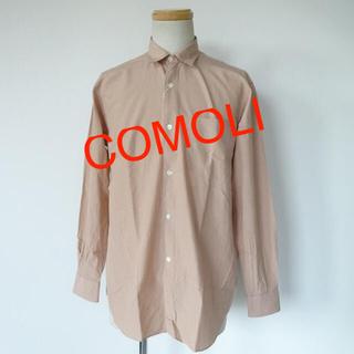 COMOLI - COMOLI コモリシャツ SAND PINK 18SS サイズ1