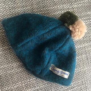 マーキーズ(MARKEY'S)の美品★ OCEAN&GROUND ベビーポンポンベレー帽(帽子)