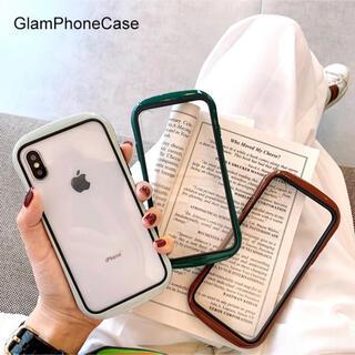 iPhoneケース シンプル iFace風 バンパー 背面