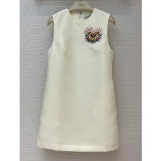 クリスチャンディオール(Christian Dior)のDIOR クリスチャンディオール 刺繍 ドレス S(ミニワンピース)