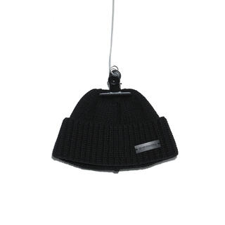 PEACEMINUSONE - PEACEMINUSONE PMO KNIT CAP #5 BLACK