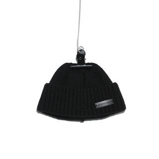 ピースマイナスワン(PEACEMINUSONE)のPEACEMINUSONE PMO KNIT CAP #5 BLACK(ニット帽/ビーニー)
