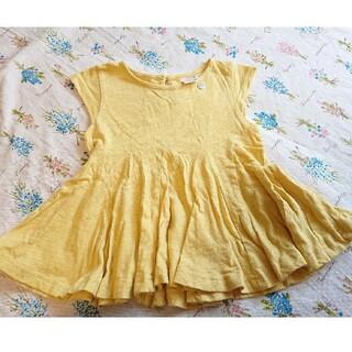 プティマイン(petit main)のプティマイン petitmain トップス フリルチュニック Tシャツ(Tシャツ/カットソー)