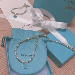 Tiffany & Co. - ティファニーエナメルのハートビーズネックレス