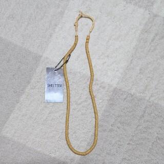 シェルターオリジナル(Shel'tter ORIGINAL)の新品未使用 タグ付き SHEL'TTER ネックレス ウッド ビーズ 自然(ネックレス)
