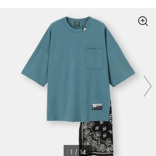 ミハラヤスヒロ(MIHARAYASUHIRO)のGU  ミハラヤスヒロ フハクコンビネーションTシャツ L(Tシャツ/カットソー(半袖/袖なし))