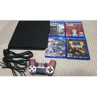 PlayStation4 - PS4 本体 CUH-2100B 1TB ソフト4本付き 箱説明書無し