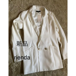 rienda - 新品 rienda テーラードジャケット ホワイト