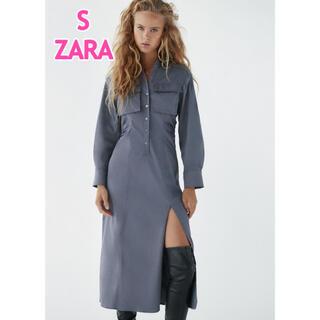 ZARA - ZARA シャツワンピース スリット入り
