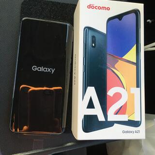 ギャラクシー(Galaxy)のGALAXY A21  black SIMロック解除済(スマートフォン本体)