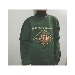 Santa Monica - 古着屋 90s 刺繍スウェット