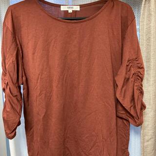 オゾック(OZOC)のOZOC ワインレッド トップス(Tシャツ(半袖/袖なし))