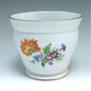 マイセン(MEISSEN)の送料無料 マイセン フラワーベース ベーシックフラワー 三つ花 花文金彩花瓶(花瓶)