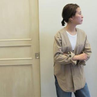 シンゾーン(Shinzone)のmeyame ブラウスジャケット ホワイト試着のみ(シャツ/ブラウス(長袖/七分))