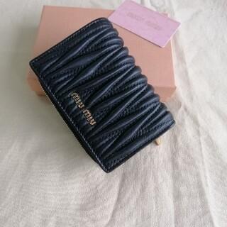 miumiu - 超美品★財布「ミュウミュウ/MIUMIU」折り財布 箱付き ブラック