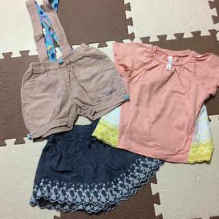 サンカンシオン(3can4on)の90〜95センチ 女の子洋服セット 3枚(Tシャツ/カットソー)