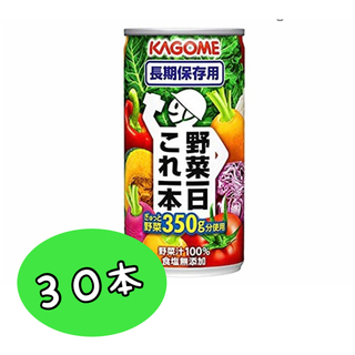 カゴメ(KAGOME)のカゴメ 野菜1日 これ一本 190ml缶 30本(その他)