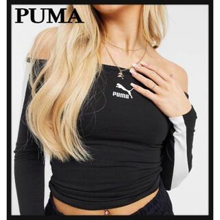 プーマ(PUMA)のPUMA オフショルトップス タグ付き新品(カットソー(長袖/七分))