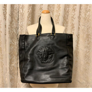 ジャンニヴェルサーチ(Gianni Versace)の超レア!ヴェルサーチ レザートートバッグ ブラック(トートバッグ)