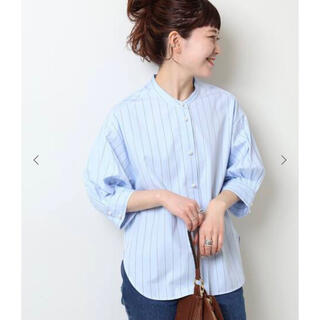 Spick and Span - 新品■ Spick and Span  パールボタンギャザースリーブシャツ