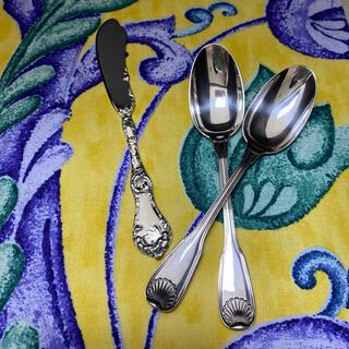 マイセン(MEISSEN)の★御専用【ピュイフォルカ/R&B】純銀 ティースプーン2本、バターナイフ1本(食器)