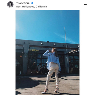 オフホワイト(OFF-WHITE)のローラ着用モデル 確実正規品 off-white フリル シャツ ブラウス(シャツ/ブラウス(長袖/七分))
