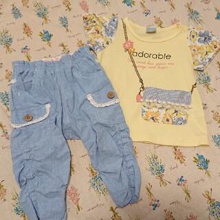 ニシマツヤ(西松屋)の西松屋 Tシャツ パンツ セット 90(Tシャツ/カットソー)