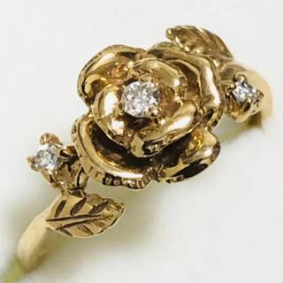 最終価格 K18 クラシカルな薔薇のリング