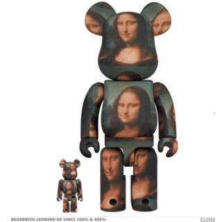 MEDICOM TOY - BE@RBRICK Mona Lisa モナリザ 100%400%