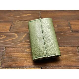 小さくてめっちゃ軽い!カードサイズミニウォレット【ヤギ革モカ】(財布)