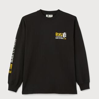 H&M - XL h&m black eye patch コラボ ロングTシャツ  ブラック