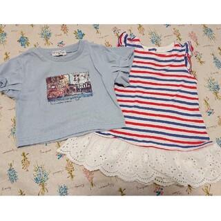 ベビーギャップ(babyGAP)のbaby GAP ワンピース バースデイ Tシャツ 2点セット 80(Tシャツ)