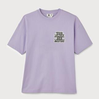 H&M - XL h&m black eye patch コラボ Tシャツ ライラック 紫