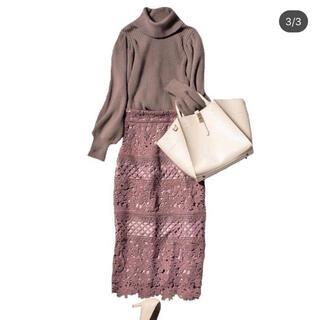 PROPORTION BODY DRESSING - Proportion body dressing レースタイトスカート ブラウン