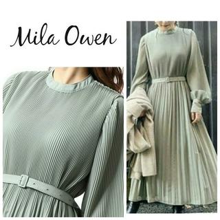 Mila Owen - Mila Owen⭐️細プリーツAライン ロングワンピース