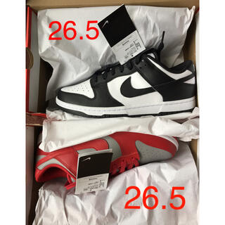 NIKE - DUNK LOW RED GRAYと WHITE/BLACK