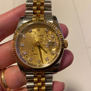 ROLEX - 確実正規品、ロレックス10pダイヤ、メンズ時計