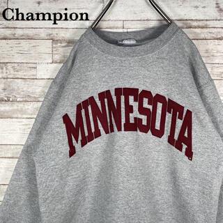 Champion - 【古着】チャンピオン ミネソタ ビッグロゴ 刺繍 スウェット トレーナー M