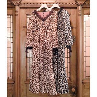 snidel - Floral Print Lace Trimmed Dress