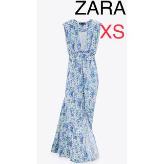 ZARA - ZARA フラワー プリント柄 ワンピース 新品未使用  花柄 ロングワンピース