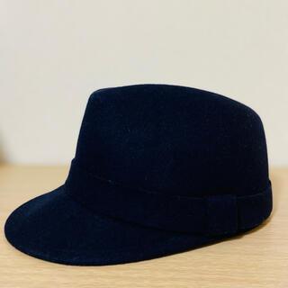 CROLLA - ウールハット 帽子 キャップ ネイビー