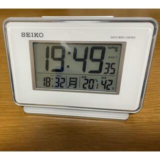 セイコー(SEIKO)のSEIKO 電波時計 目覚まし時計 SQ767W(置時計)