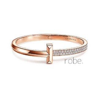 467.T one wide half stone bangle【rose】