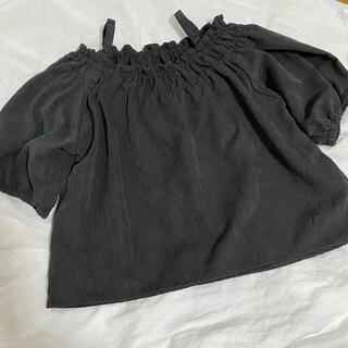 チャオパニックティピー(CIAOPANIC TYPY)のチャオパニックティピー♡オフショルダートップス♡ブラック(Tシャツ/カットソー)