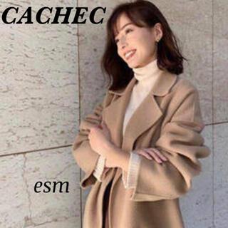 Noble - CACHEC☆カシェック☆ダブルフェイスロングガウンコート