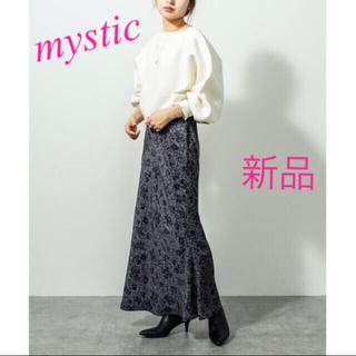 mystic - 新品 新作 mystic ミスティック ヴィンテージサテン 花柄スカート