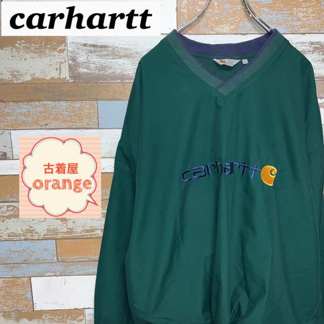 carhartt(カーハート)の【日本未発売】【激レア】カーハート ナイロンジャケット 刺繍ロゴ 長袖 メンズのジャケット/アウター(ナイロンジャケット)の商品写真