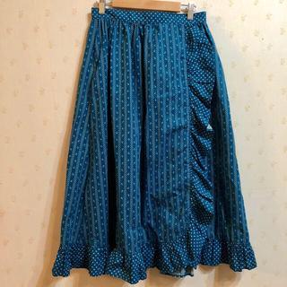 GUNNE SAX - カントリー調 小花柄 フリル 巻きスカート